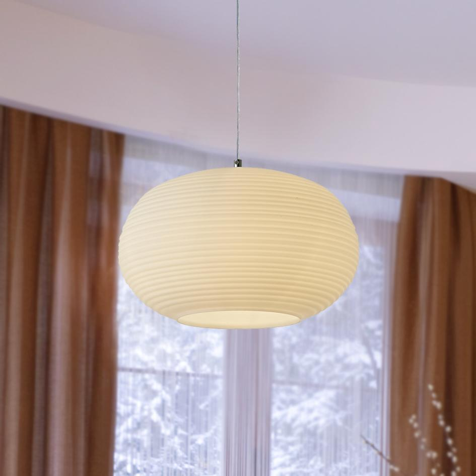 13 5 Inch Pendant Lamp With Opal Glass Shade