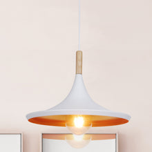 14 inch White Aluminum Pendant Light