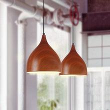 9 inch Wood-Look Pendant Light