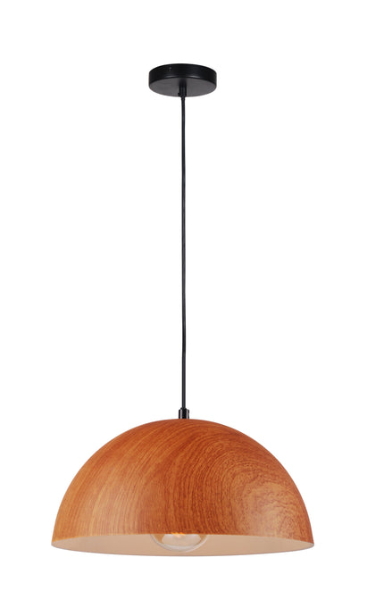 12 inch Wood Look Shade Pendant