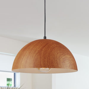 12 inch Wood-Look Shade Pendant