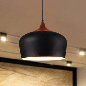 12 inch Black Aluminum Pendant Light