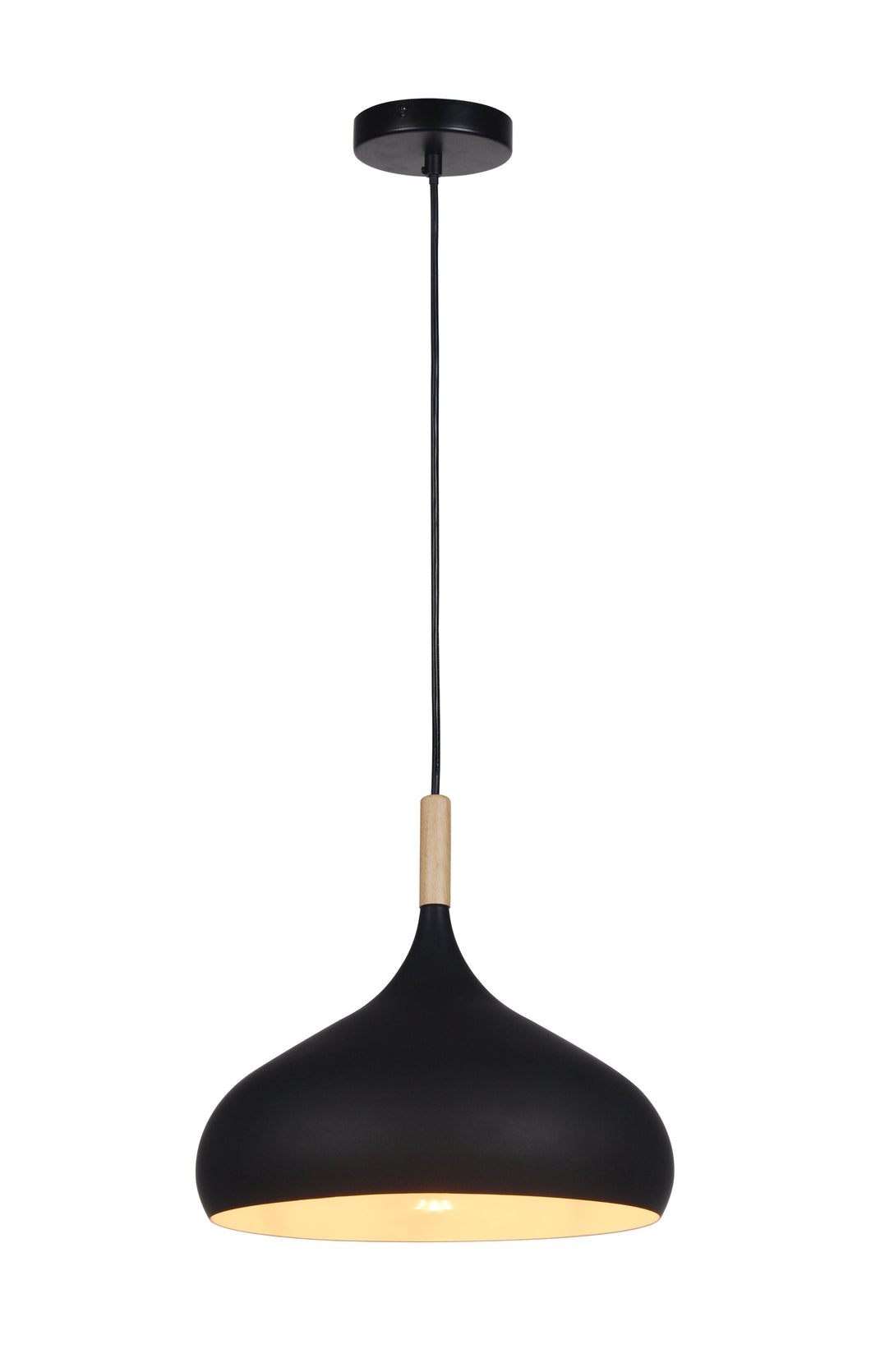 13.5 inch Black Aluminum Pendant Light