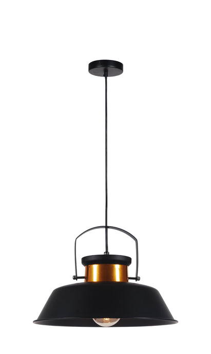 14 inch Black Metal Industrial 1 Light Pendant