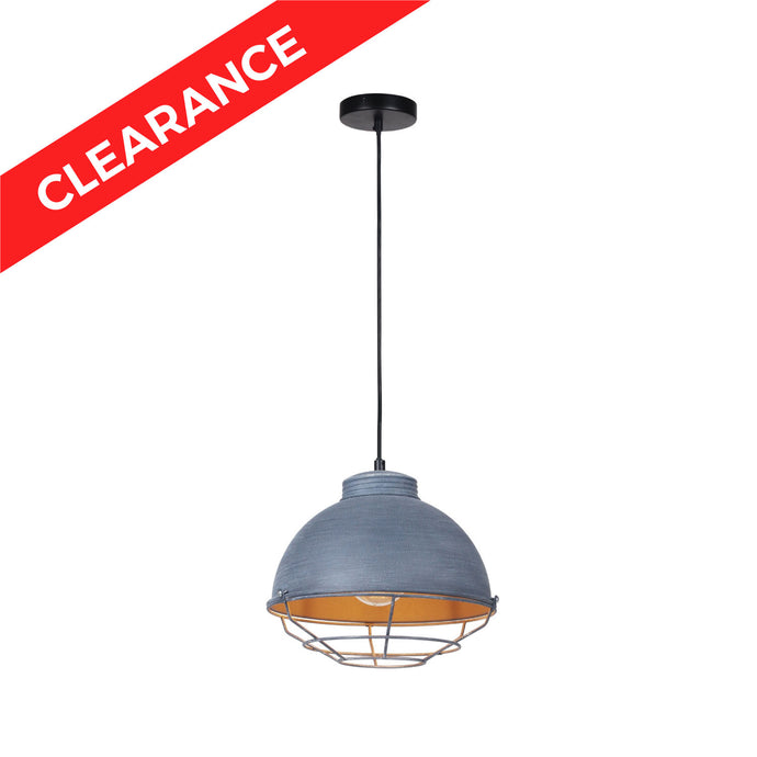 10 inch Cement Gray Metal Shade Pendant