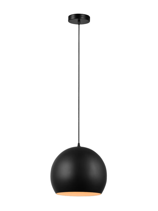 11 inch Black Globe Shaped Pendant