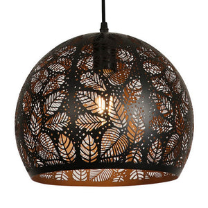 NEARLY SOLD OUT -- 11.875 Inch Pendant Light With Precision Cut Metal Shade