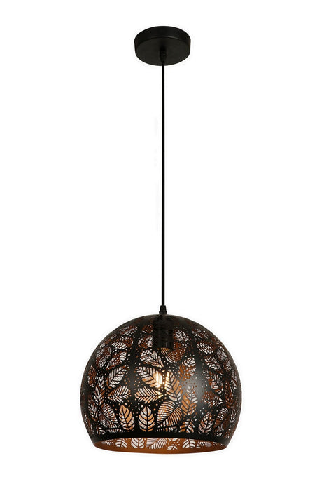 11.875 Inch Pendant Light With Precision Cut Metal Shade
