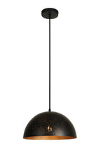 13.875 Inch Pendant Light With Precision Cut Metal Shade