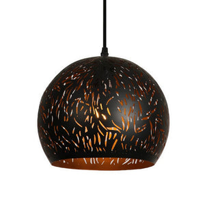 10 Inch Pendant Light With Precision Cut Metal Shade