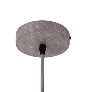 5.5 Inch Pendant Light Lamp With  Galvanized Grill Metal Shade