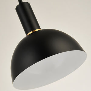 8.125 inch sand black and inside white, rounded aluminum pendant light