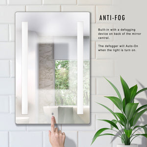 Dimmable LED Lighted Mirror 24 inch x 36 inch