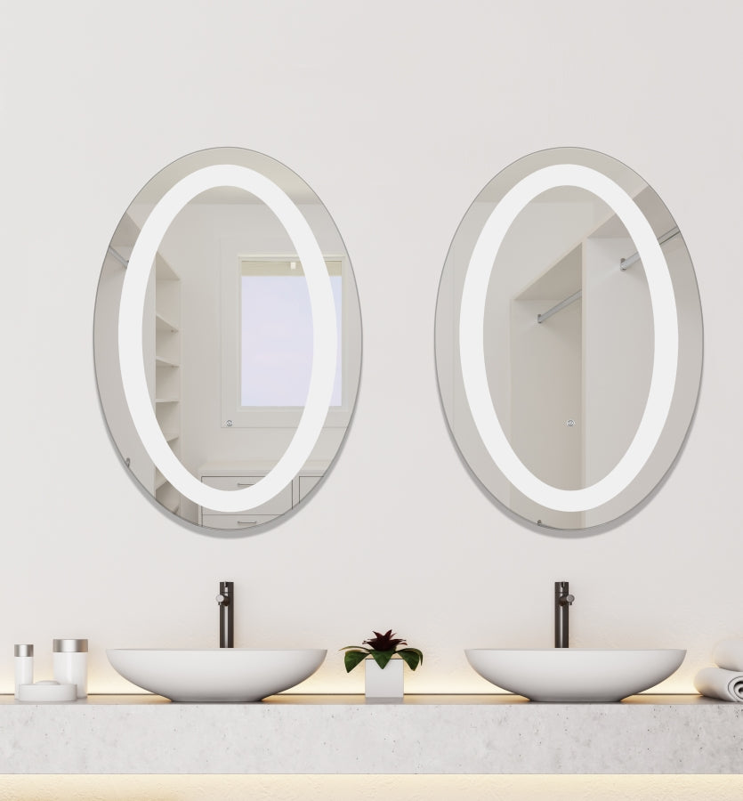 Dimmable LED Lighted Mirror 24 inch x 36 inch Oval