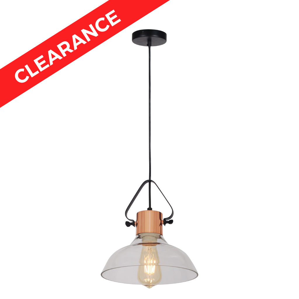 10 inch Clear Glass Shade Pendant Light