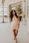 Rose Gold Body Con Style Dress