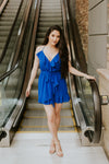Women's Royal Blue Romper