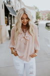 Blush Tie Top
