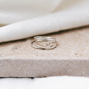 'Jasmine' Stacking Ring Set