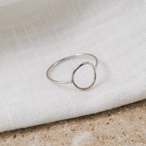 Eco 'Halo' Dainty Silver Ring