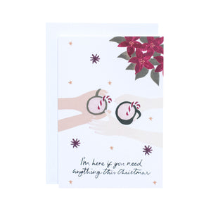 'I'm Here This Christmas' Greetings Card