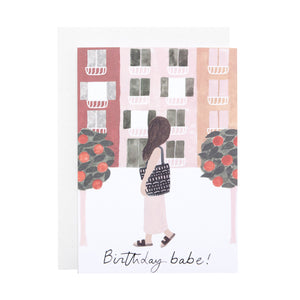 'Birthday Babe' Greetings card