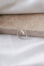 Adjustable Hammered Silver Ring