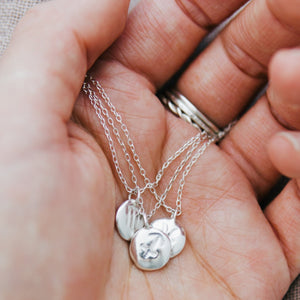 Silver Zodiac Pebble Necklace