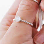 Moonstone Forever Entwined Silver Ring