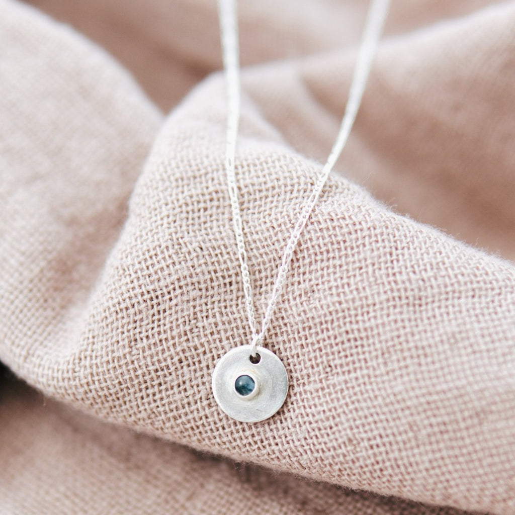 Blue Moon Sterling Silver Coin Necklace