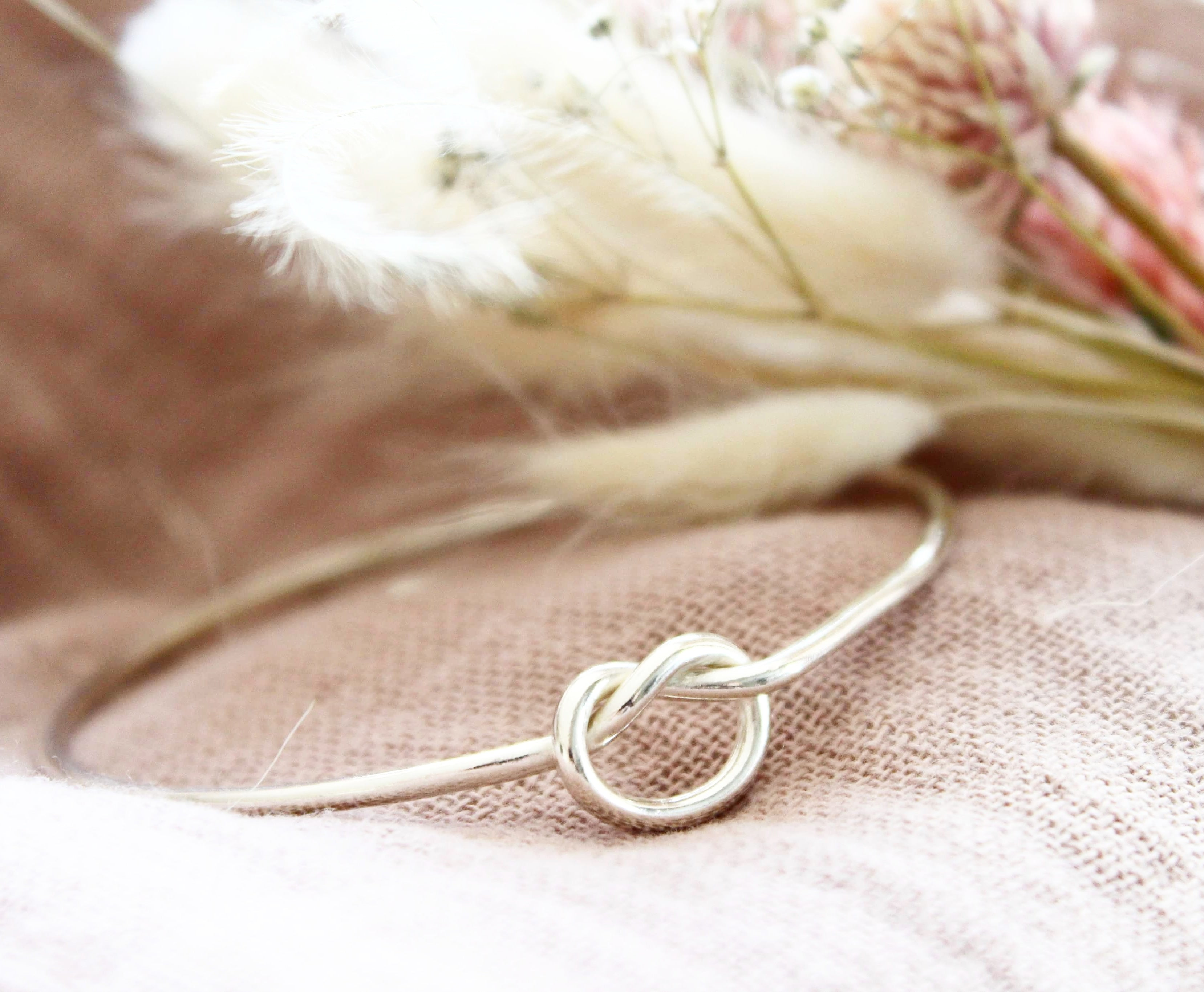 Eco Silver Love/Friendship Knot Bangle