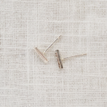 Sterling Silver Mini Textured Bar Studs