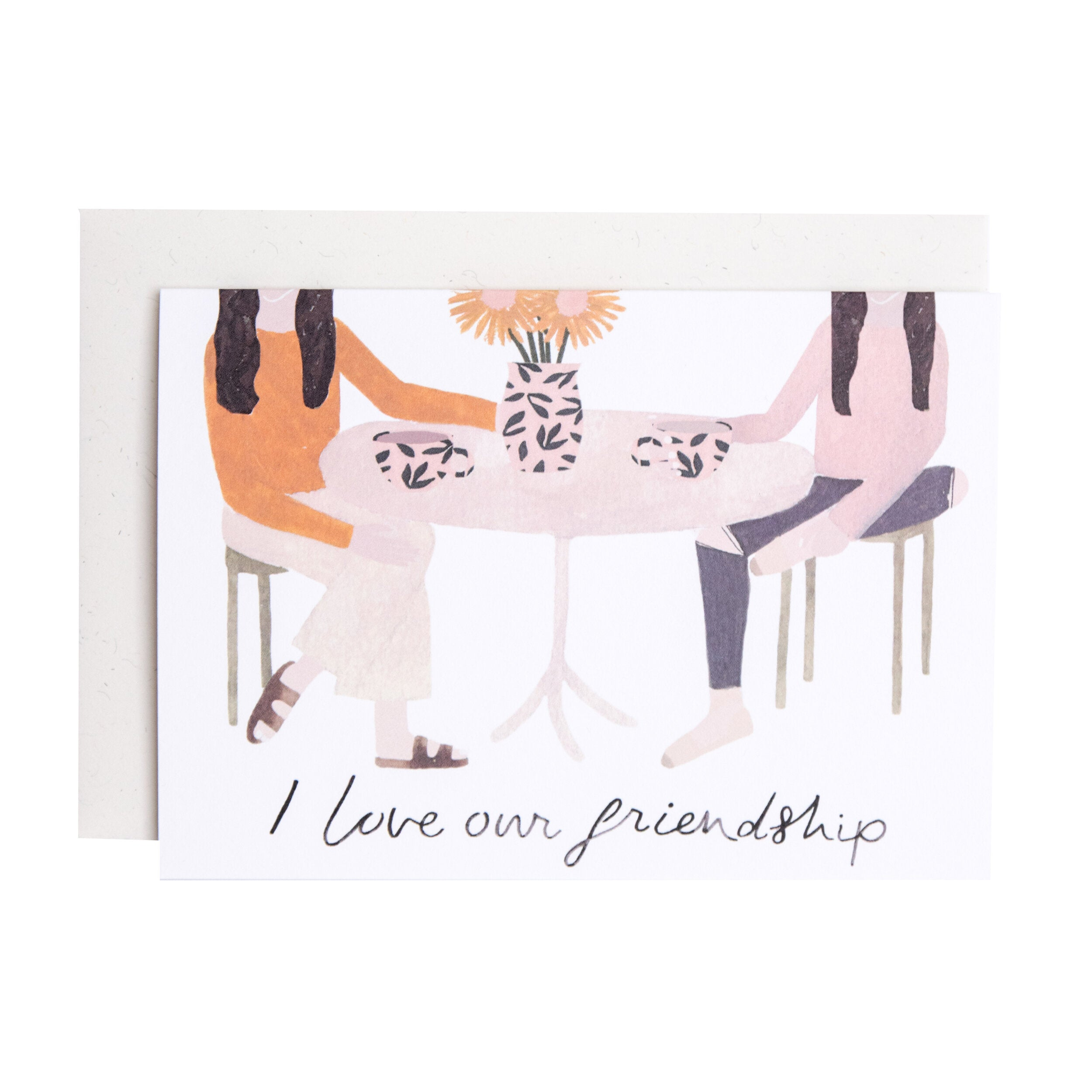 'I Love Our Friendship' Greetings Card