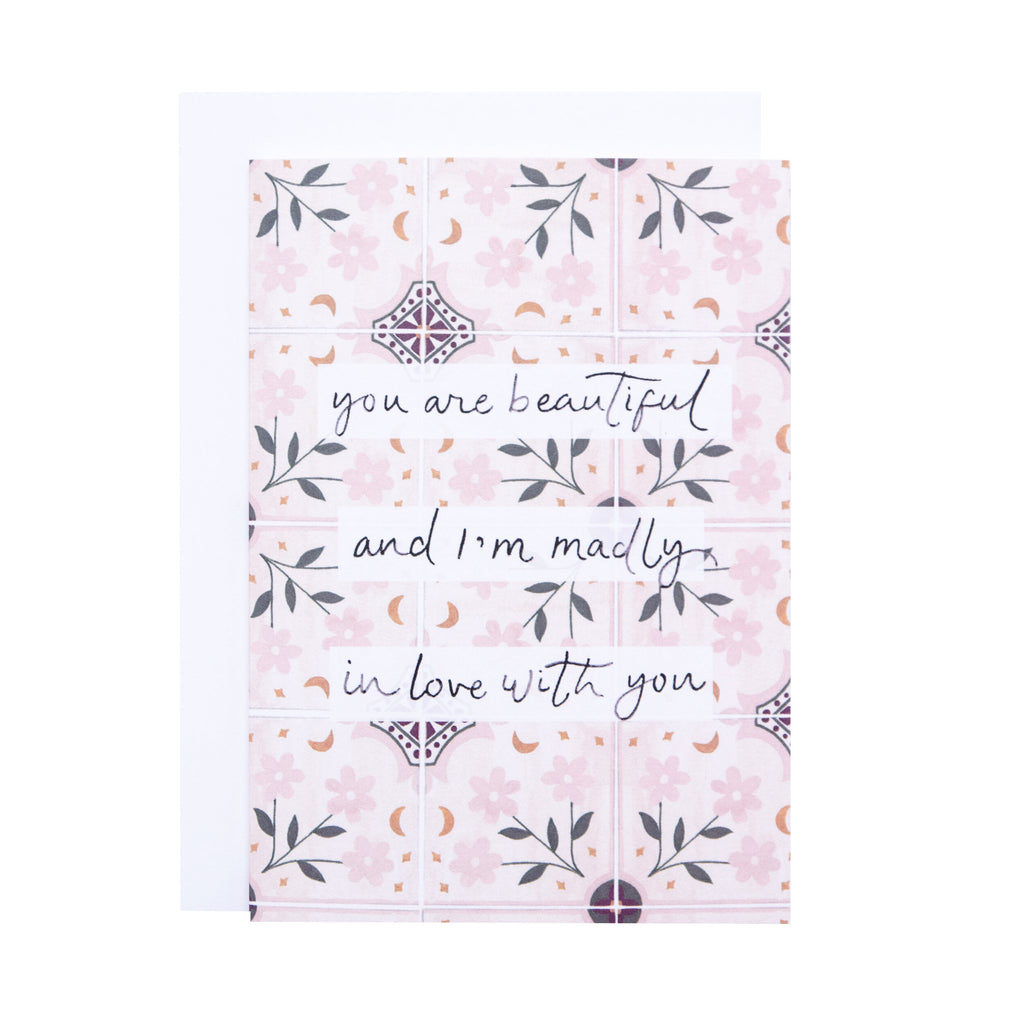 'Madly in Love' Greetings Card