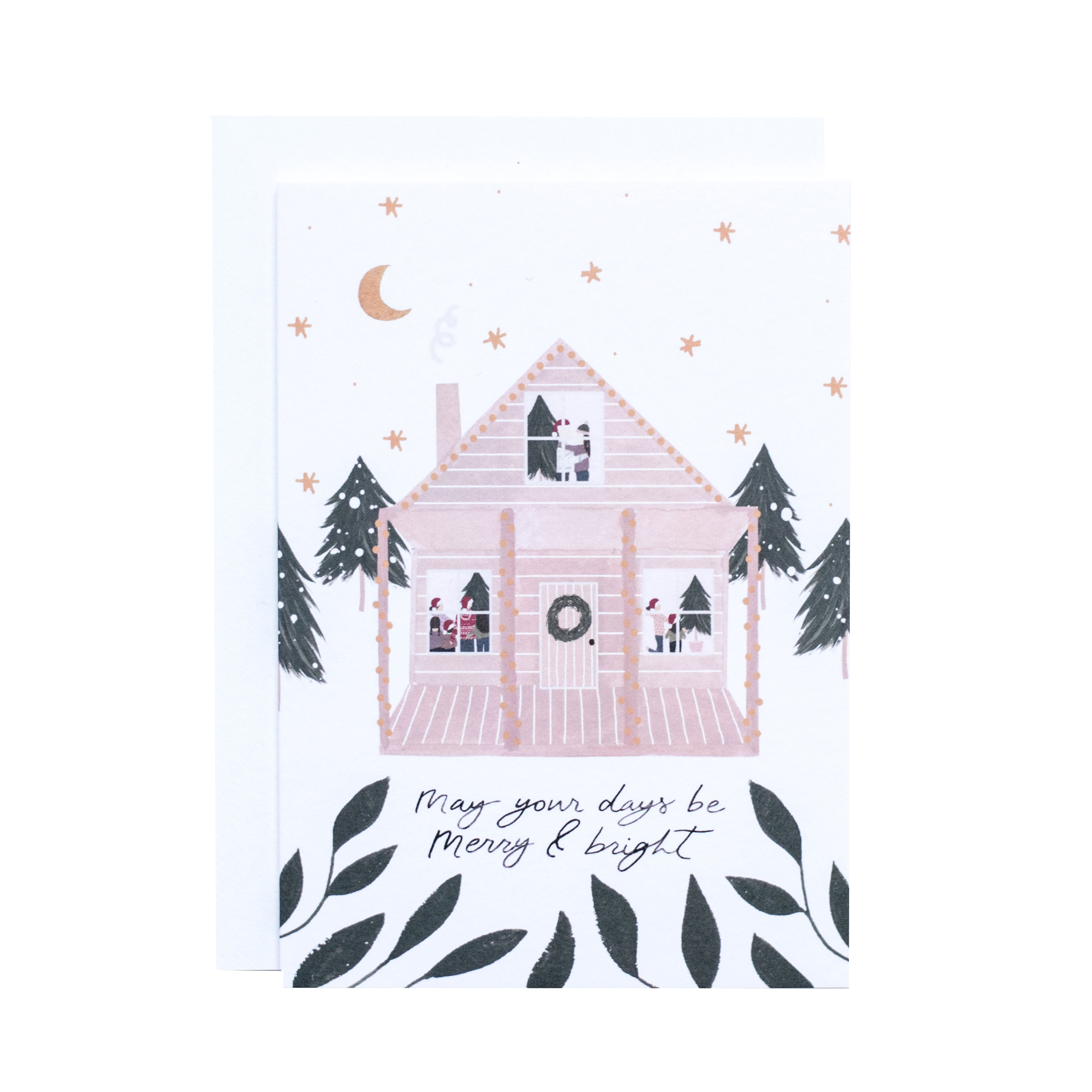 'Merry and Bright' Greetings Card