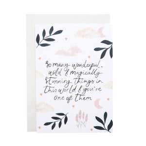 'So Many Wonderful...' Greetings Card