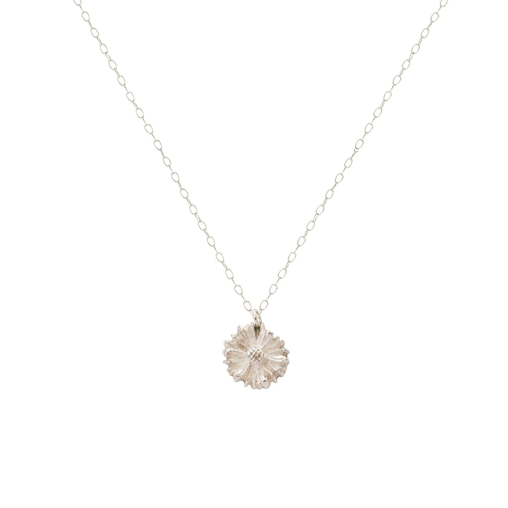 Fine Silver Daisy Necklace