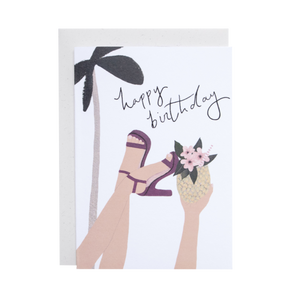 'Tropical Birthday' Greetings Card