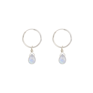 Gemstone Briolette Hoop Earrings