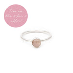 Pink Chalcedony Gemstone Stacking Ring