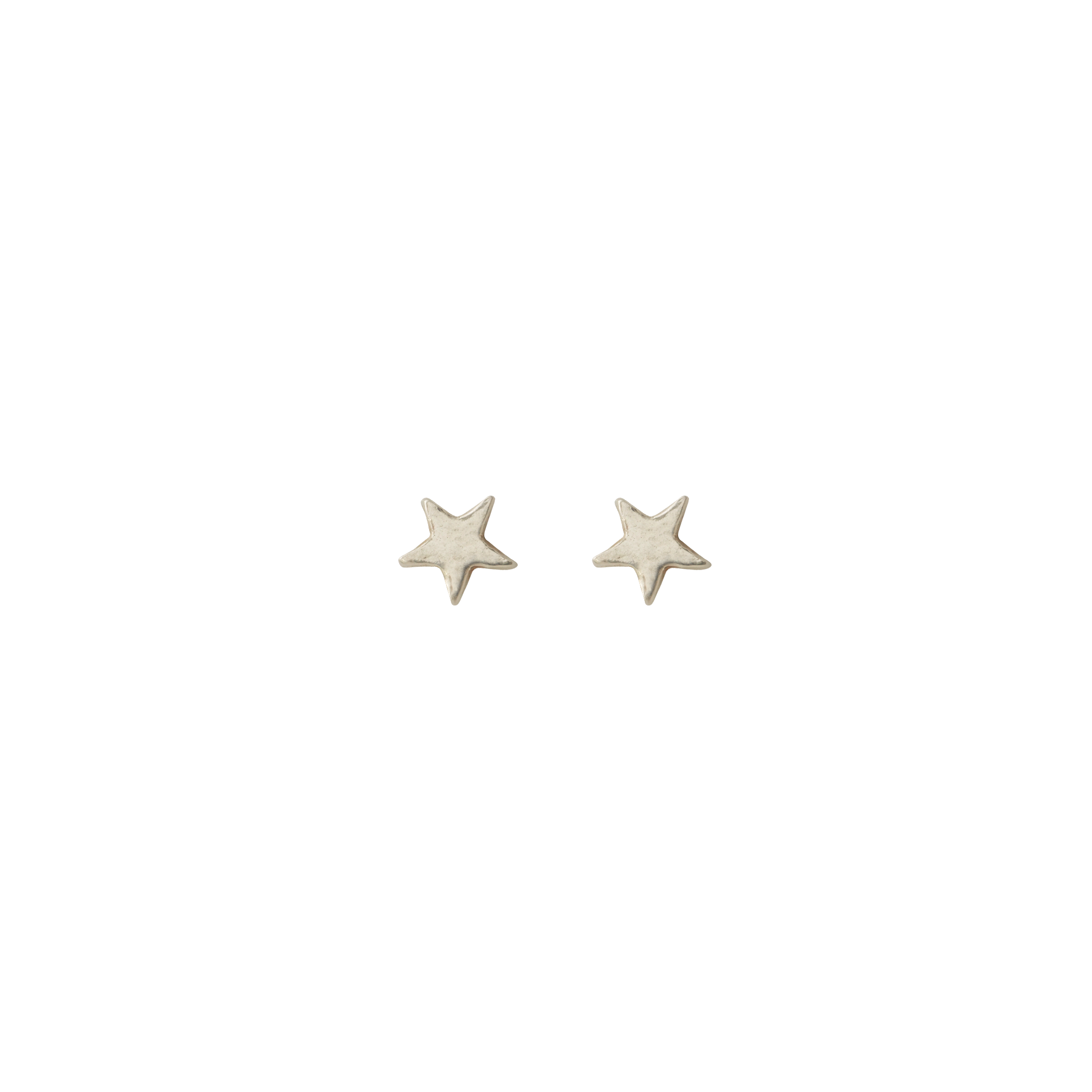 Simple Star Sterling Silver Studs