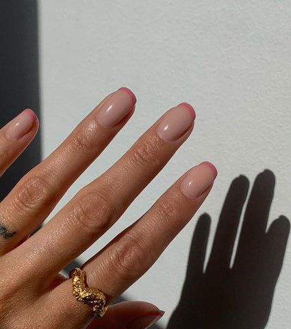 color block French manicure