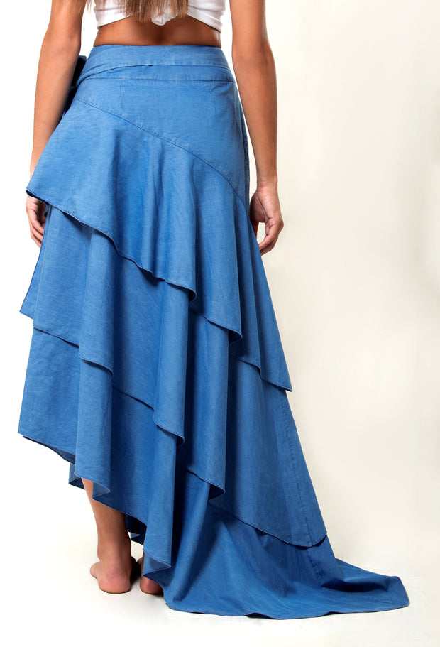 VOLANTE DENIM SKIRT - LèMert