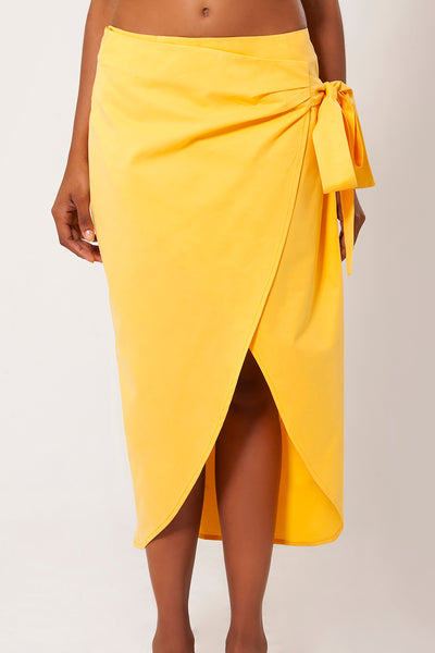 SINUOSA WRAP AROUND MIDI-SKIRT - LèMert