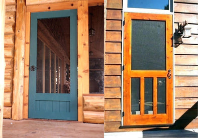 Cedar Screen Door Finishes