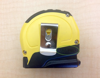 Tape Measure Showing Amount to Add for tight spot measurement.