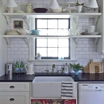 Kitchen Window with grilles & shelves