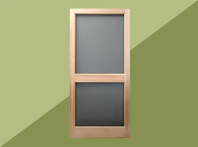 A screen door to put the finishing touch on your cabin or patio