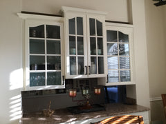 Cabinets with Grilles installed.