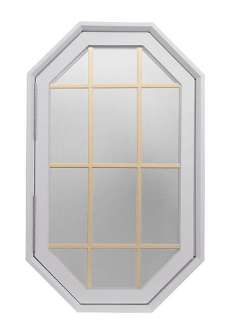 Tall Rambler Breeze White Poly Venting Octagon Window.